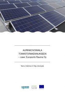 Julkaisun kansilehti, jossa kuva aurinkopaneeleista.