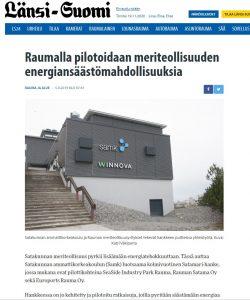 Kuvakaappaus Länsi-Suomi -lehden nettisivuilta.