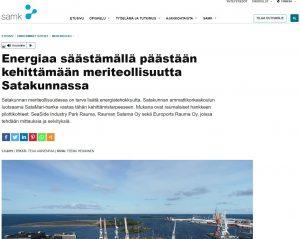 Kuvakaappaus SAMK:n nettisivujen uutisesta.